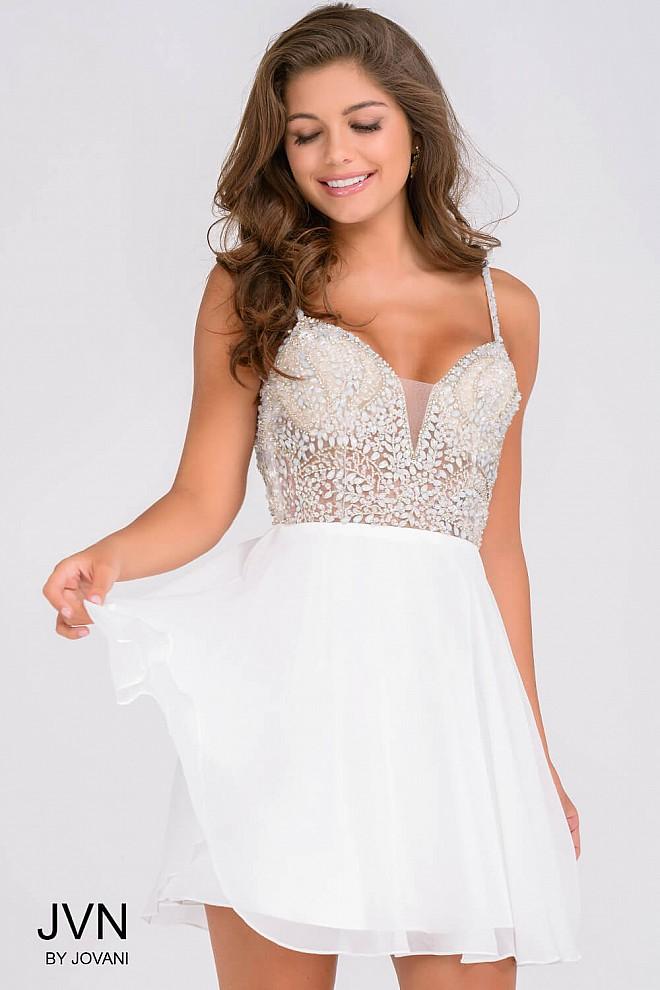 80ddbb1ee7 Short White Beaded Bodice Dress - Play Dress Up